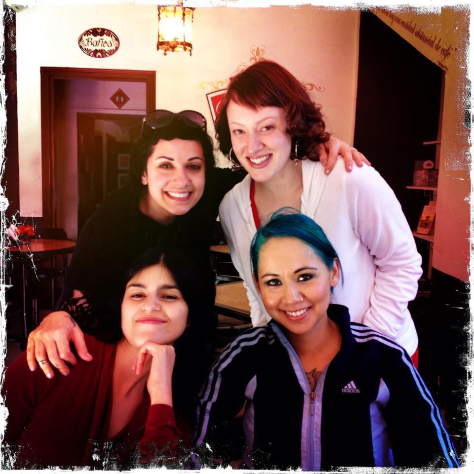 Lady Fred, Ela Rogers, Tracy & Edenia Archuleta at Tribal Fest Guadalajara 2013