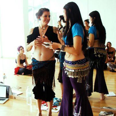 Kristine Adams (USA). Workshop in Guadalajara.